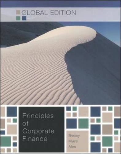 Principles of Corporate Finance - Global Edition W/connect plus by Brealey, Richard A, Myers, Stewart C, Allen, Franklin (2010) Paperback