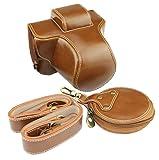 Voller Schutz Bottom Opening Version Schutz PU Leder Kamera Tasche für Fujifilm Fuji X Serie X - T100 XT100 mit 15-45mm Objektiv mit Schultergurt braun