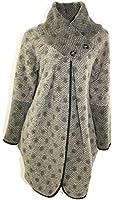 #4135 Damen Designer Strickjacke Cardigan Winter Jacke Wolle 36 38 40 42 Schwarz Beige Grau