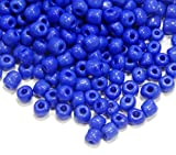 Rocailles A222 Perles de rocaille 4 mm Opaque Bleu Cobalt Perles de Roccaille 5000stk 6/0 Perles Rondes Perles de Perles Indiennes Perles de Culture d'eau Seed Beads, A222