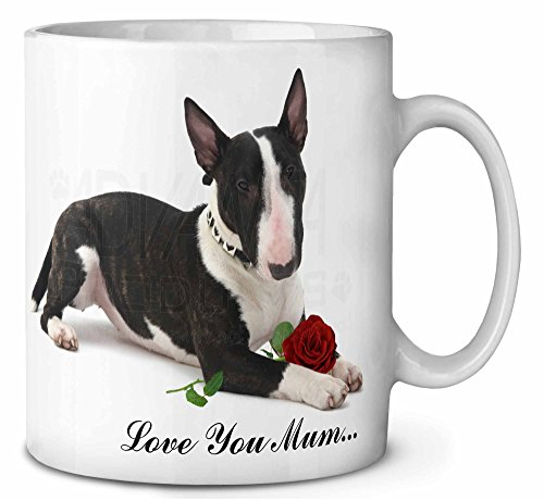 Bull Terrier + Rose 'Love You Mum'