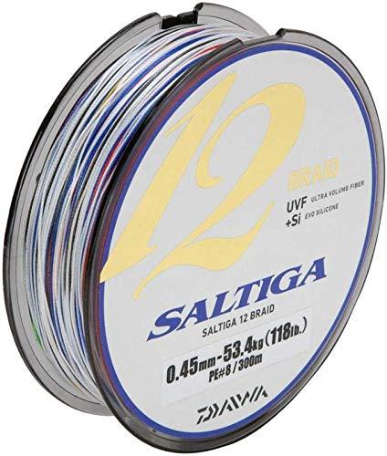 Daiwa Saltiga 12 Braid ExSi, 300 meter, 0.45mm, 53.4kg/118lbs, Multicolor, 12696-345 -