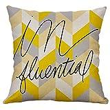 Xmansky Costura poligonal multicolor alce amarillo Funda de Cojín Almohada Caso Duradero Decoración Diseño Simple Almohada para Home Coche Sofá Personalidad