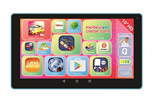 'lexitab 10 - Tablet Touchscreen Kinder, Inhalt lehrreich und witziger Kontrolle Parental - Android, WiFi, Bluetooth, Google Play, YouTube - ref. mfc512 Youtube-touch-screen
