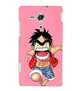 EPICCASE Angry boy Mobile Back Case Cover For Sony Xperia SP (Designer Case)
