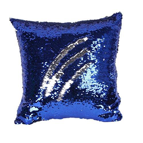 Longra Doppio colore Glitter Paillettes tiro cuscino Caso H