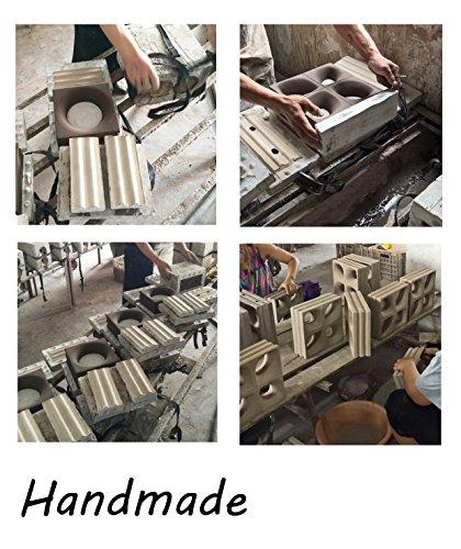 6 Stück Style'n Art Deko Idee Loop Rot 19x19x8 cm - 4