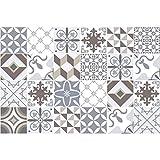 24 Stickers adhésifs carrelages   Sticker Autocollant Carrelage - Mosaïque carrelage mural salle de bain et cuisine   Carrelage adhésif - portugais - 10 x 10 cm - 24 pièces