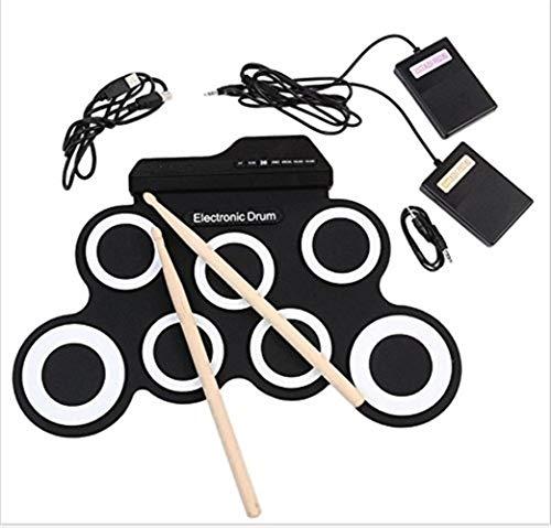 Tragbare Handrolle Zusammenlegbare Elektronische Trommel, USB-Trommel, Silikon-elektrische Trommel, Jazz-Trommel, Eintritts-Übungs-Trommel ( Color : B )