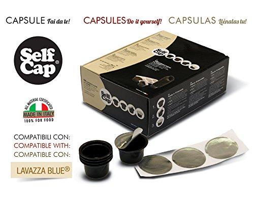 100 CAPSULE CARICABILI SELF CAP PER LAVAZZA BLUE