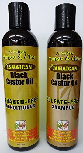 JAMAICAN MANGO & LIME BLACK CASTOR OIL SULFATE FREE SHAMPOO & PARABEN FREE CONDITIONER 237ml **DEAL** by Jamaican Mango & Lime