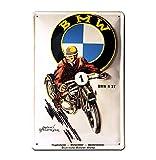 Blechschild Retro BMW Motorrad - Blechschild Vintage Oldtimer - BMW R37