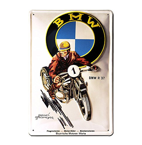 Placa de metal BMW R37 - Muestra del metal BMW Motocicleta - Placa decorativa retro - nostálgico - Coche antiguo