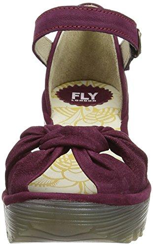 FLY London YOEL629FLY Damen Durchgängies Plateau Sandalen Purple (Magenta)