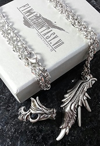 Final Fantasy VII Sephiroth Ring & Halskett Necklace FF7 Kostüm Cosplay Cloud RPG XV (Returns Lightning Kostüm Cloud)