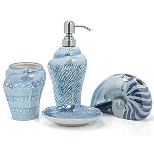 PEHOST Finding Nemo Ceramica Accesorios de baño Set para niños 4: 1 jabonera, 1 dispensador de jabón 1 Cepillo de…