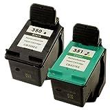 Prestige Cartridge 350 / 351 Pack de 2 Cartouches d'encre compatible avec Imprimante HP DeskJet/Photosmart Séries Noir/Couleur