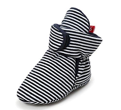 Keephen Unisex Baby Fleece Lined Booties Snow Boots Soft Warm Crib Slipper First Pram Shoes (Fleece-booties)