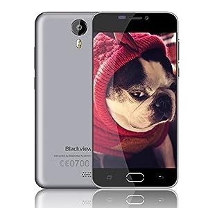 SIMFreeMobilePhones,BlackviewBV20004GDualSIMCheapSmartphone,5.0InchHDUnlockedPhonewith8MPCamera,MTK6735Quad-core8GBROM,Andriod5.1CellphonewithTwoOriginalBatteryCovers