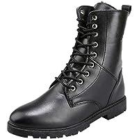 Bottines Homme Cuir Mode Pas Cher Grand Taille Boots à Talon Plates Chelsea Bottes Hautes Automne Hiver Vintage Lacets…