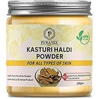 Pure Kasturi (Wild/Jangli) Haldi Powder For Spot Less, Pimple free, Natural Glowing & Shiny Skin-Face Pack (100GM (PACK…