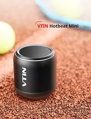 Bluetooth Lautsprecher, Musikbox VTIN Hotbeat Mini Mobiler Speaker mit 8 Stunden Spielzeit, 10M Bluetooth Reichweite und IPX5 Wasserdicht,Tragbar Kabellos Lautsprecher für iPhone, Samsung usw. (Schwarz)