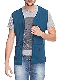 Life Mens Sleeveless Slim Fit Solid Jacket