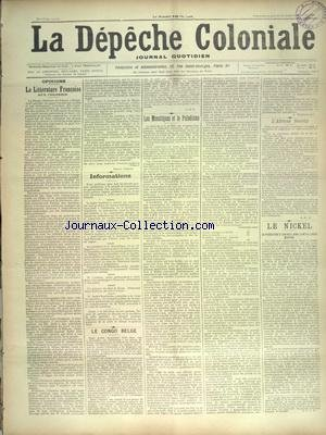 DEPECHE COLONIALE (LA) [No 1489] du 21/07/1901