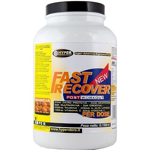 Hyper hypfast1500 FAST RECOVER Recupero Muscolare,  1500 gr, Gusto Arancia con: proteine whey, destrosio, Glutammina , Creatina Taurina , Acido Alfa Lipoico , Acido Ascorbico , Vitamina E