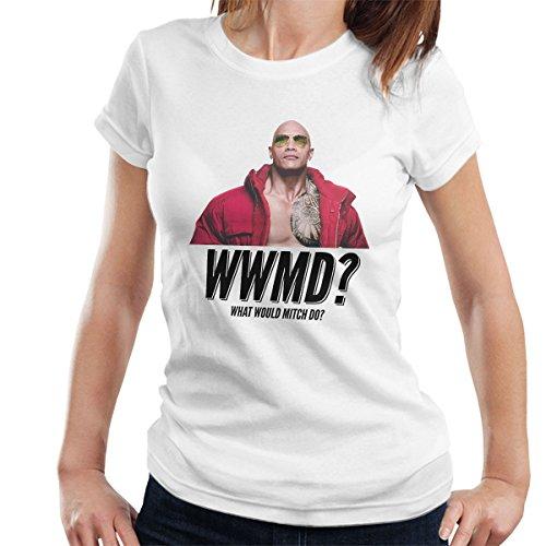 Baywatch What Would Mitch Do Dwayne The Rock Johnson Women's T-Shirt