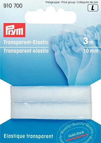 Transparent Elastisch (Prym, elastisch, 3m x 10 mm, transparent)