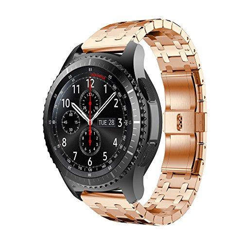 Javpoo Correa de reloj Inteligente, Correa Audemars Piguet Nuevo Reloj de Acero Inoxidable Pulsera Correa de Banda para Samsung Gear S3 Frontier