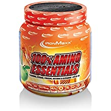 Ironmaxx 100% Aminoácidos Esenciales Manzana Verde, 1 Pack (1 x 550 g)