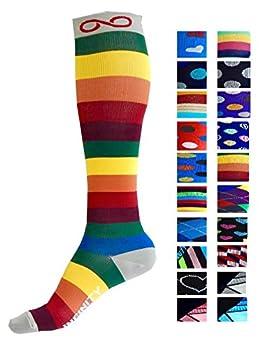 Kompression Socken (1Paar) Für Männer & Frauen Von Infinity–Beste Für Running, Krankenschwestern, Tibiakantensyndrom, Flight Travel, Skifahren & Mutterschaft Schwangerschaft–Boost Athletic Ausdauer Und Wiederherstellung 0