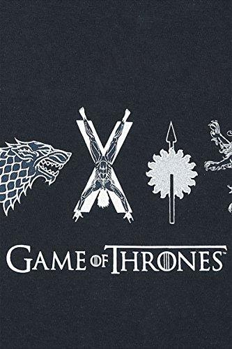Game of Thrones Horizontal Sigils Girl-Shirt Schwarz Schwarz