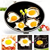 VOLTAC ™ 4pcs Kitchen Stainless Steel Pancake Mold Ring Cooking Fried Egg Ring Set Pattern #151699