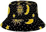 Photo de hgdfhfgd Sun Hat for Men/Women,Outdoor Packable Travel Bucket Cap Hats for Safari Fishing Hiking Beach Golf-Vintage Sun Moon Stars Pattern par hgdfhfgd