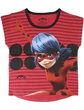 Miraculous Ladybug e Cat Noir - T-Shirt Maglia Maglietta con Maniche Corte - Full Print - Bambina - Novità Prodotto...