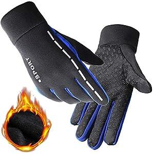 Yiwu Yonger EU Touchscreen Winter Handschuhe, Dick Warm Voller Finger Reflektierend Outdoor Sport – Laufen Fahrrad Motorrad Bergsteigen Handschuhe