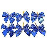 Wicemoon 12x Weihnachtsbögen Weihnachten Dekorationen Weihnachtsbaum Dekorationen Ornament Weihnachtsgeschenke,Blau