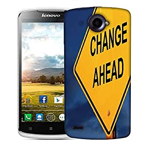 Snoogg Change Ahead Designer Protective Back Case Cover For Lenovo S920