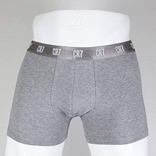 CR7 CRISTIANO RONALDO Herren Enganliegende Boxershorts Basic Trunk 3-Pack Grey Melange