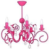 LIWIA DARK PINK/DUNKEL ROSA 5 Hängelampe Deckenleuchte Deckenlampe Kronleuchter