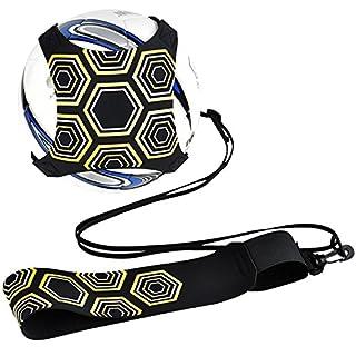 Football d'entraînement, Équipement de formation de football Mains libres Pratique solo avec ceinture Corde élastique Universal Convient # 3 # 4 # 5 Ballons de football pour les adultes des enfants