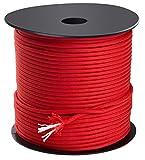 Trexi Paracord-Seil mit 250kg geprüfter Traglast | original 7-Strands-Core | US MIL-Spec 5040-H Type III | 100m Spule | 550 Cord | Fallschirmleine (Rot)