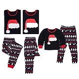 Morbuy Schlafanzüge für die Ganze Familie, Nachtwäsche Schlafanzug Pyjama Zuhause Kleidung Top + Hosen für Herren Damen (S (Vater), Weihnachtsmütze Top + Schneeflocke REH Gedruckt Hose)