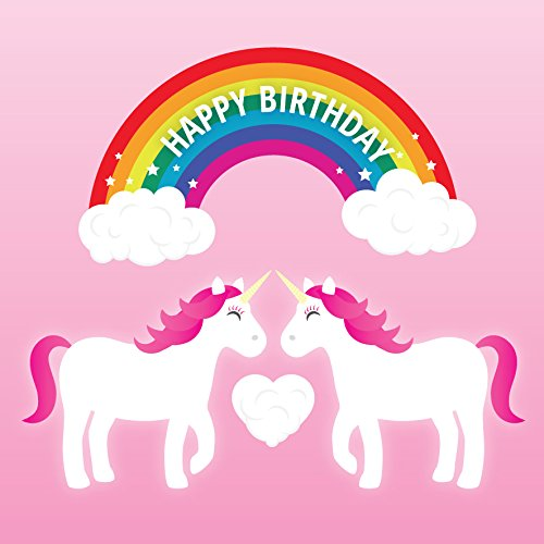 Lesbian Unicorn Birthday Card