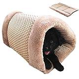 GossipBoy, cuccia a sacco a pelo e tappetino per animale domestico, cuccia adorabile, autoriscaldante e lavabile, per gatti, cani e cuccioli
