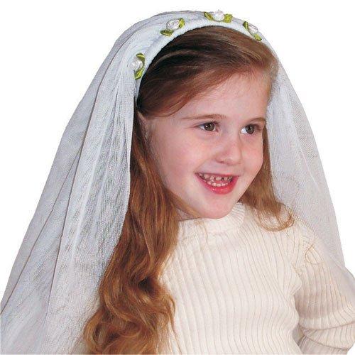 Dress Up America Kinder bezaubernd White Braut Schleier (Für Kinder Kostüm Halloween Braut)
