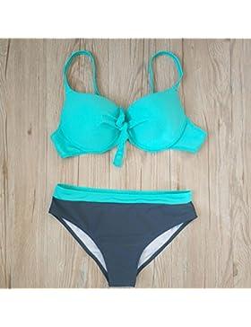 Conjuntos de Bikini Sexy traje de baño Trajes de Baño Moda adelgazantes Multi-Color bañador nade Split, imágenes...